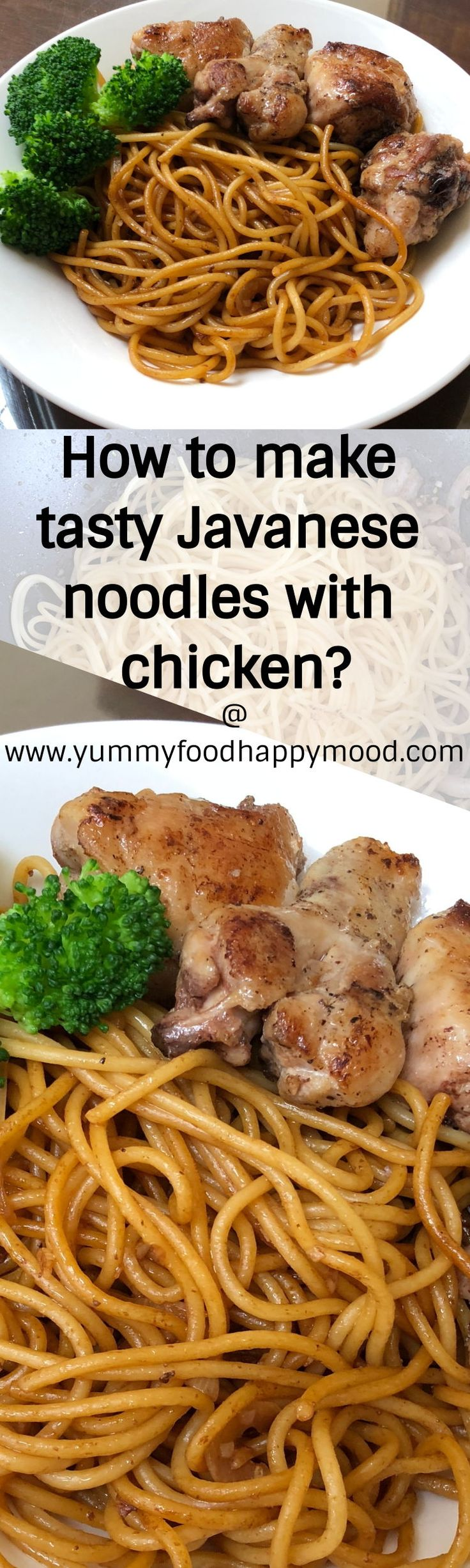 Want to make noodles? Try Javanese noodles! It's basically spaghetti, but with Asian flavors. #noodles #chickenrecipes #spaghetti