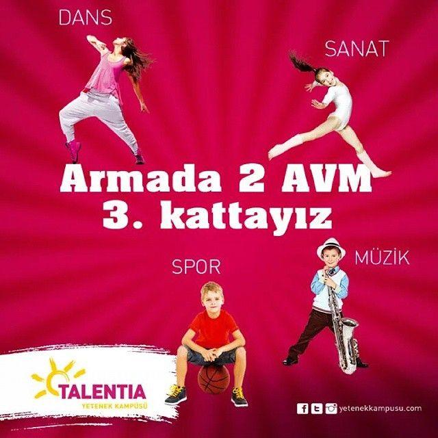 #Türkiye'nin ilk yetenek kampüsü #Talentia'da yetenekler fora! #Talentia'da! #TalentiaYetenekKampüsü #Dans #Müzik #Sanat #Spor #yetenek #yeteneklerfora #yetenekkampusu #eğitim #kariyer #gelecek #talent #eğlence #ArmadaAVM #Müzik #bale