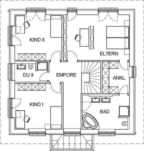 536 best floor plan design images on pinterest floor for Stadtvilla plan