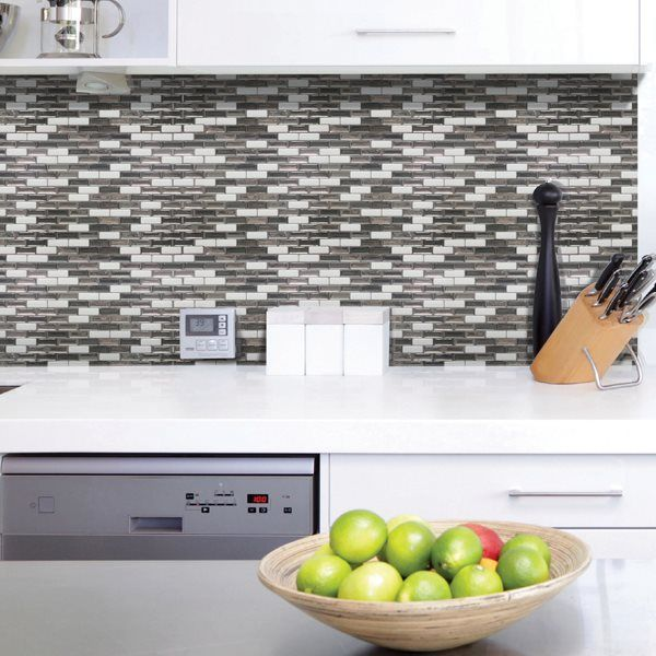 Shop Smart Tiles SM1030 Murano Metallik Self Adhesive Wall Tile at Loweu0027s  Canada. Find our