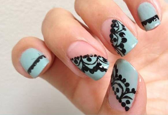 Tutorial nail art pizzo