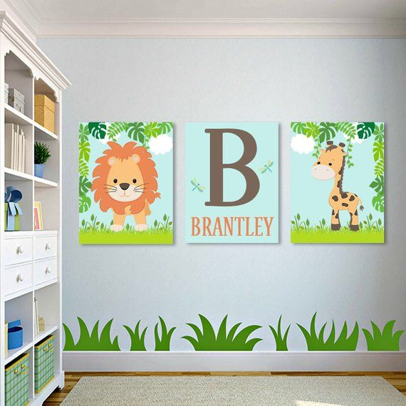 Safari Nursery Wall Art Safari Nursery Decor Boy Nursery Pictures Safari Nursery Prints Or Canvas Jungle Animals Nursery Decor Set Of 3 With Images Safari Nursery Decor Safari Nursery Walls Safari
