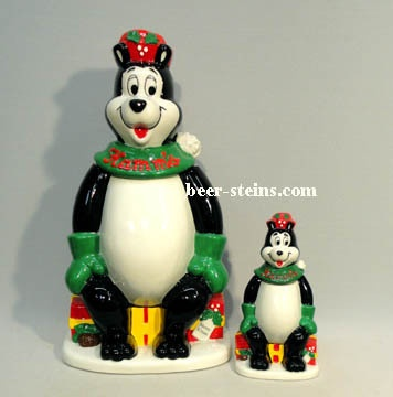 Hamms Bear Holiday Cookie Jar made in Japan for Silver States Specialties