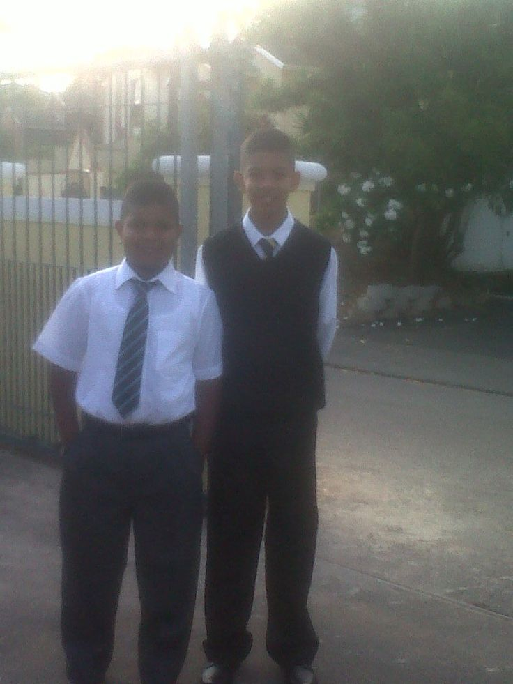 Dante (9) and his brother Tyrique (12), on their way to school!