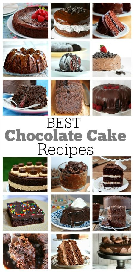 18 of the very BEST Chocolate Cake Recipes