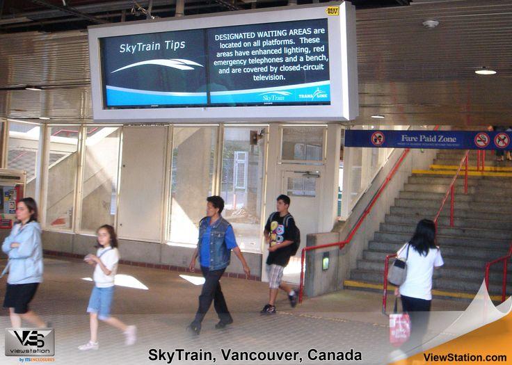 SkyTrain Vancouver Canada, ViewStation Array, Transportation Digital Signage ViewStation by ITSENCLOSURES #ViewStation