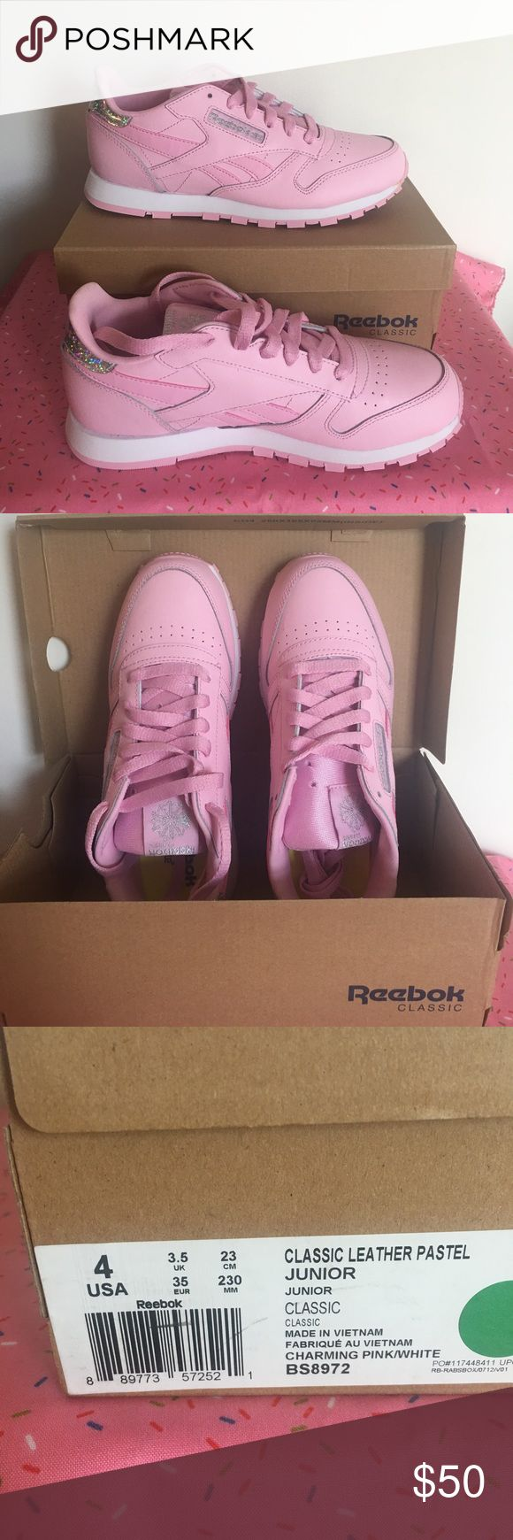 Reebok Classic Leather Pastels! Rebecca Classic Pink Leather Pastels, size 4 (brand new, with box). Reebok Shoes Athletic Shoes