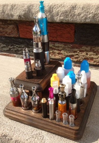 E cigarette e cig storage holder organizer - electronic cigarette vape station - custom made - provari eVic innokin joyetech