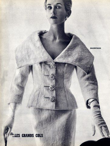 Balenciaga 1954 Summer Fashion Les Grands Cols