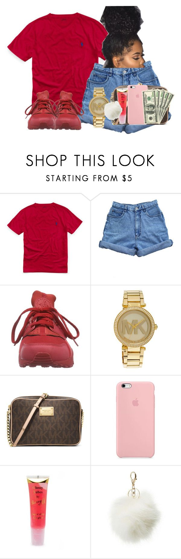 """""""Game today"""" by aerielle24 ❤ liked on Polyvore featuring Ralph Lauren, Bill Blass, NIKE, Michael Kors, MICHAEL Michael Kors, Barry M and Charlotte Russe"""