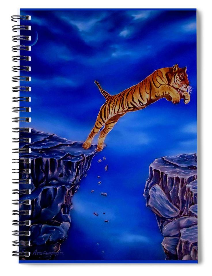 Spiral Notebook,  stationery,school,supplies,cool,unique,fancy,trendy,awesome,beautiful,design,unusual,modern,artistic,for,sale,items,products,office,organisation,tiger,wildlife,blue