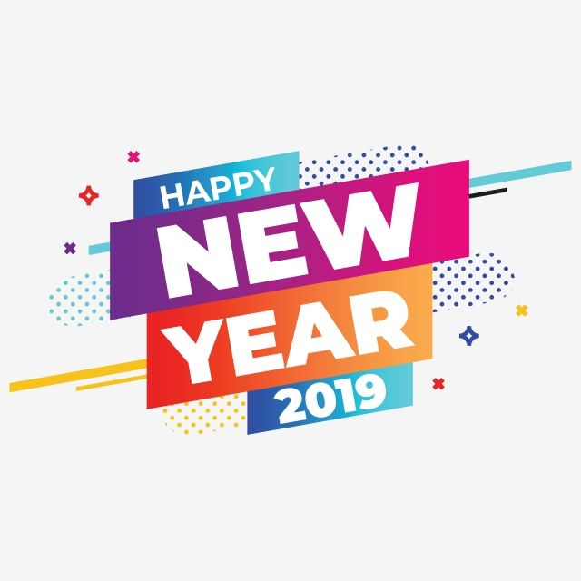 "Happy New Year 2019 Png And Vector À¸"" À¹""ซน"