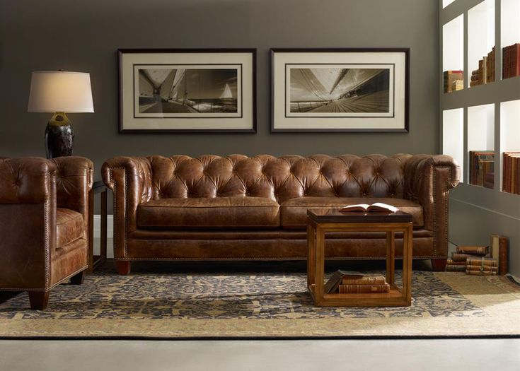 Bradley Leather Chesterfield Sofa | Mobilart Decor High End Furniture
