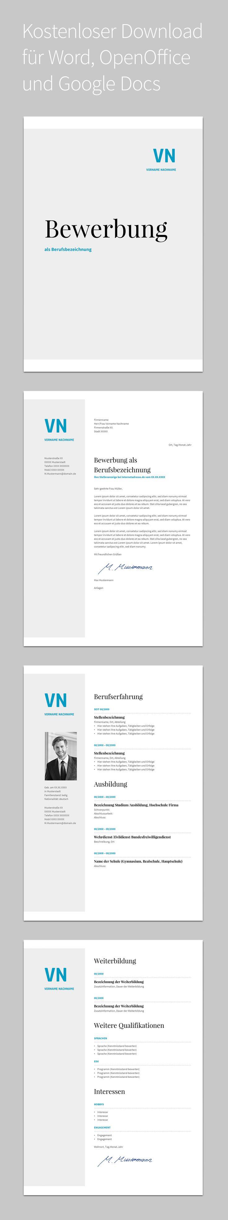 Bewerbung Balera · Design · Vorlage · Auffällig · Kostenloser Download