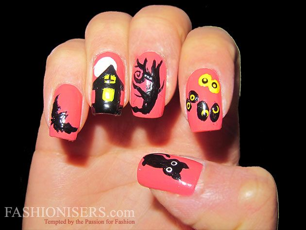 Last Minute Halloween Nail Art Designs  #nails #halloween #nail designes