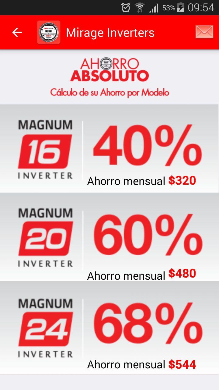 Ahorro mensual aire acondicionado Inverter. Con pago promedio de 1000 pesos.