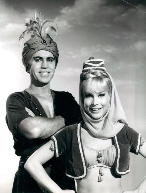 Michael Ansara & Barbara Eden, she was married to the Blue Djinn and had a son who has since died. She and Michael divorced, but remained good friends Michael George Ansara (April 15, 1922 – July 31, 2013) was a Syrian-born American stage, screen, and voice actor who portrayed Cochise in the American television series Broken Arrow