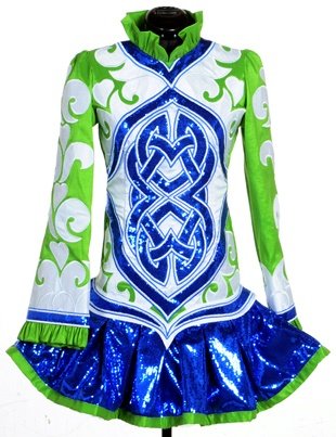 #Irish_Dance Solo Dress by Celtic Art Designs- like the colors, but not the collar