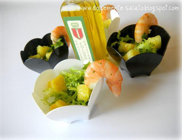 DOLCEmente SALATO: Ciotoline di insalata di ananas all'olio di limone...