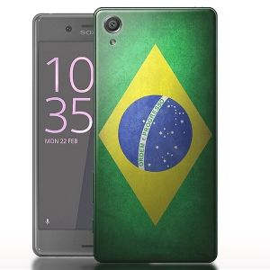 Coque Sony Xperia X Drapeau Bresil - Housse gel Silicone