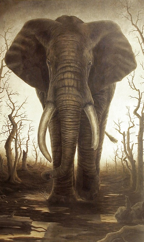 Art of Robert Bissell ; elephant                                                                                                                                                      More