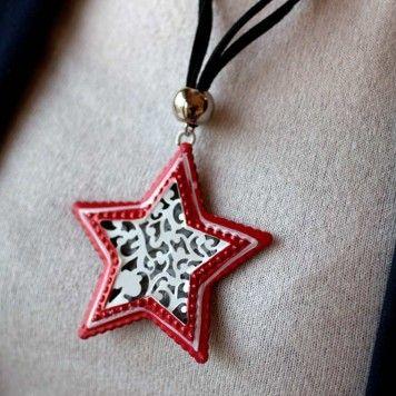 Baverıan Yıldız Kadın Kolye. Almanya'nın Bavyera bölgesinin geleneksel metal işçiliği ile üretilmiştir.  El yapımıdır. Siyah süet kullanılarak tasarlanmıştır.