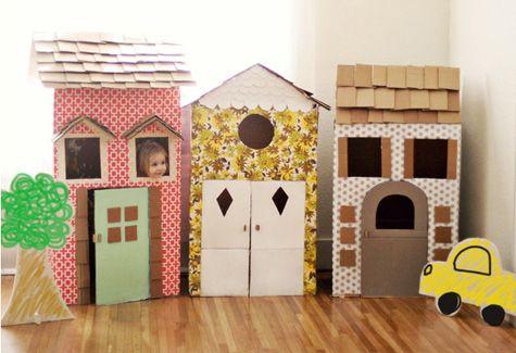 cabane en cartons, idées enfant