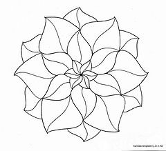 template with link to much more...Mandala para pintar. Mandala for painting…