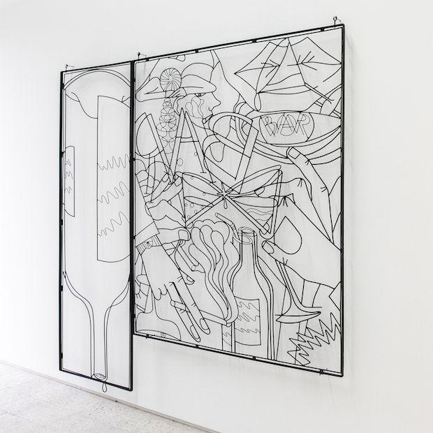 Tomek Kowalski BBAARR, 2014, installation, 220 x 220 x 5 cm