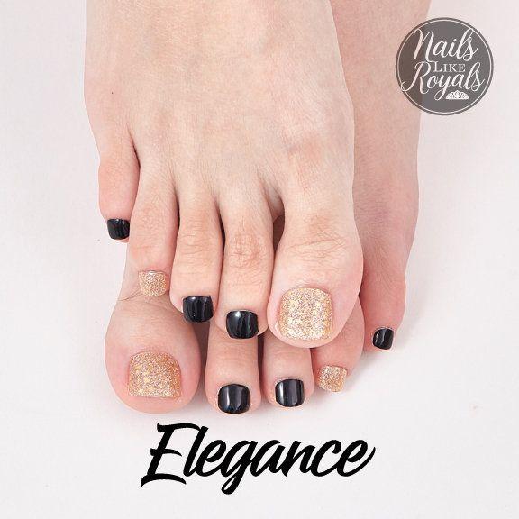 Elegance Gold 22pc Toenail Wraps Nails Like Royals Etsy In 2020 Toe Nails Nail Sizes Nails