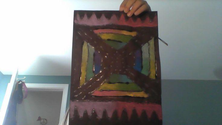 Art Camp; Pastel Glue Art 1