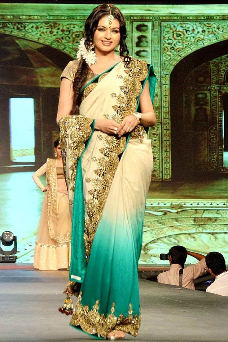 Bhagya shree #Bollywood super shine traditional #Saree, best patterns and georget saree with matty blouse Shop Now☛ http://www.fashion4style.com/woman/clothing/bollywood-replica-saree/bhagyashree-bollywood-saree/pid=MTM2