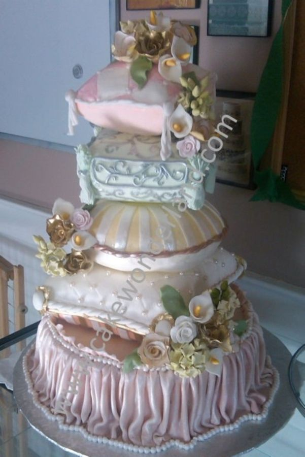 Pastel Pillow wedding  Cake ~ totally edible