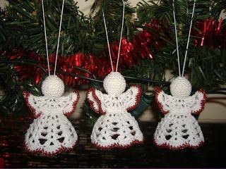 Melyke handworks: Horgolt karácsonyfa díszek