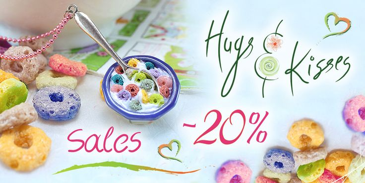 www.hugskissesmini.etsy.com ★☆ 20% End of Spring SALE ☆ ALL jewelry items 20% OFF!! ~ May 28th - 31st ☆★ Spring is ending, Summer is at the door and my birthday is this Sunday, so.. enjoy!! ;-) ♥ Prices are already reduced, no coupon code needed! ♥