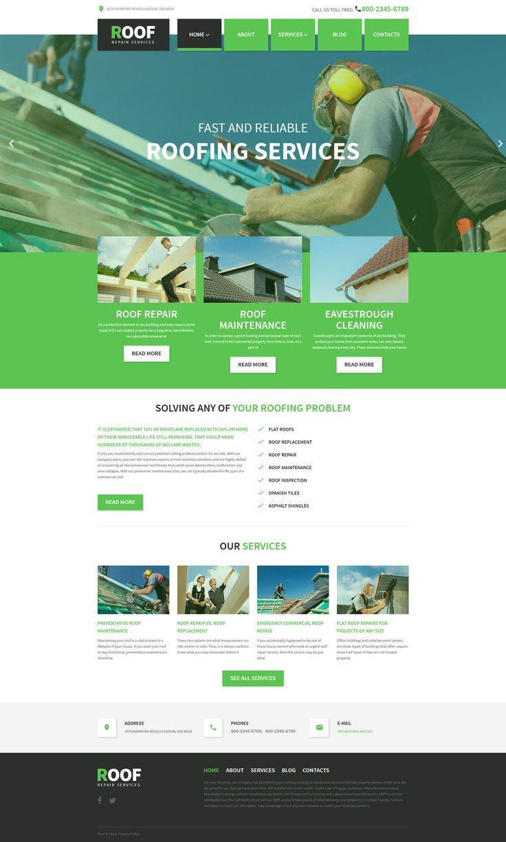 Roof Repair WordPress Theme http://www.templatemonster.com/wordpress-themes/58408.html