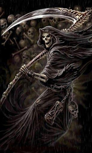 Grim Reaper with Roses wallpaper   Death Reaper Wallpaper ...
