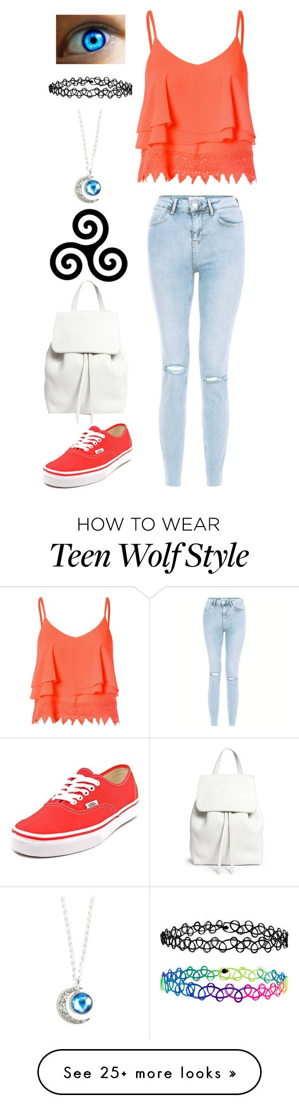 """""""Teen Wolf"""" by lucy-wolf on Polyvore featuring Glamorous, New Look, Vans, Mansur Gavriel and Accessorize"""