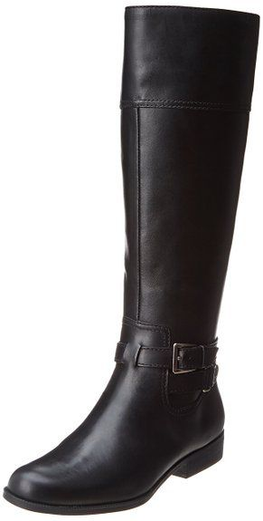 AK Anne Klein Women's Coldfeet Leather Riding Boot