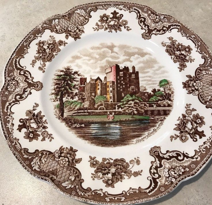 Johnson Bros Old Britain Castles Blarney Castle Brown  Dinner Plate #JohnsonBros