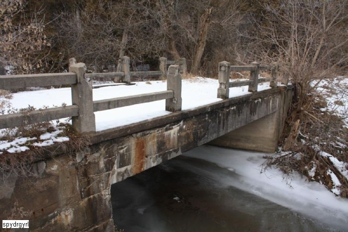 This old abandoned one lane bridge crosses Oshawa Creek alongside Conlin Road in Oshawa, just west of Durham College.