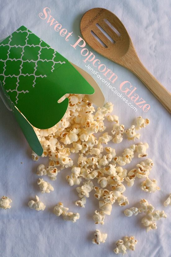 Sweet Popcorn Glaze from Jen's Favorite Cookies - super quick to make, and tastes similar to kettle corn.