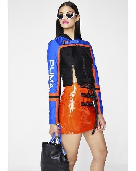 c0166670ea26 FENTY PUMA By Rihanna Scuba Panelled Biker Jacket  dollskill  puma   pumasneakers  sneakers  puma  fentybypuma  rhianna