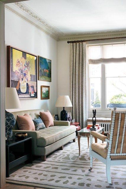 Green Sofa & Bobbin Chair - Living Room Ideas (houseandgarden.co.uk)