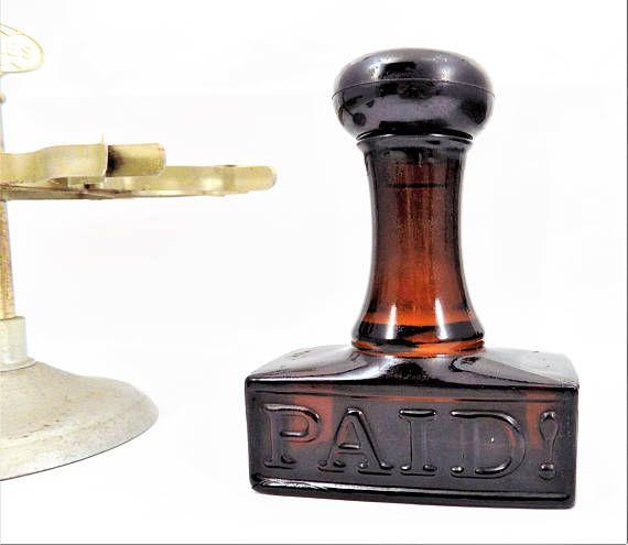 Avon Paid Stamp Bottle Windjammer Cologne Collectible Avon