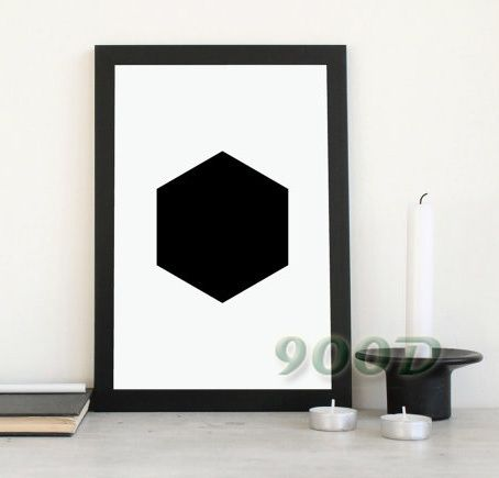 sexangle Canvas Painting Poster, Wall Art Print For Living Room Decoration Print On Canvas, Frame not include FA149