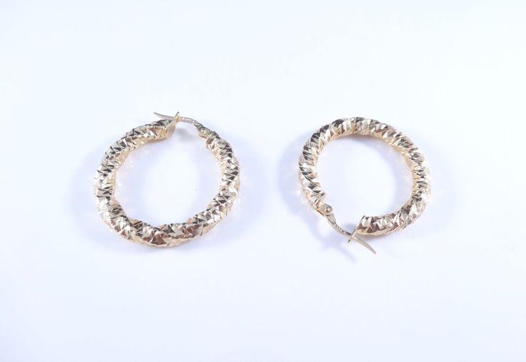 $265 14K Gold Earrings, info@bijuterie-online.ro.
