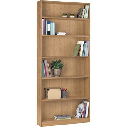 Maine Tall Wide Bookcase Oak Effect At Homebase Be
