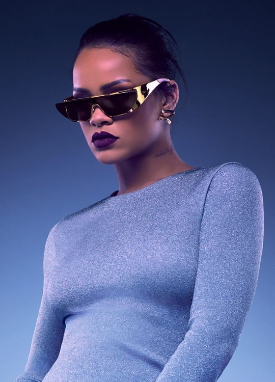 Rihanna has designed a futuristic collection of sunglasses à la Star Trek for Dior.