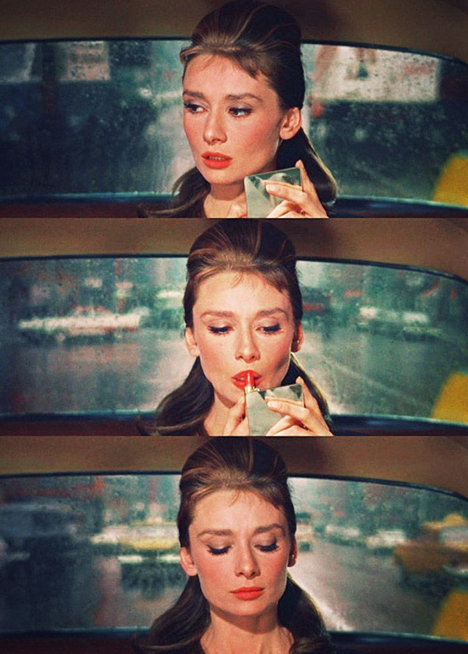Audrey and lipstick.